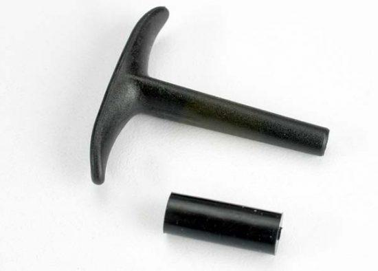 Traxxas Pull handle, recoil starter/ shock absorber (TRX® 2.5, 2.5R)