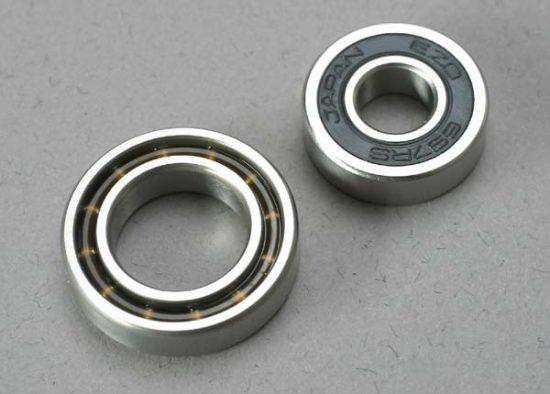 Traxxas Ball bearings, 7x17x5mm (1)/ 12x21x5mm (1) (TRX® 3.3, 2.5R, 2.5 engine bearings)