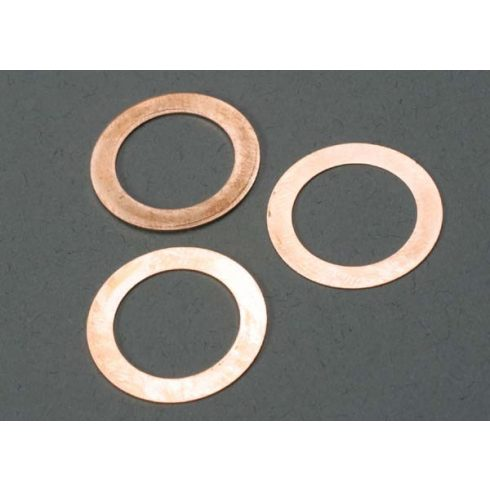 Traxxas Gaskets, cooling head: 0.15, 0.25, 0.35mm (1 each) (TRX® 2.5, 2.5R)