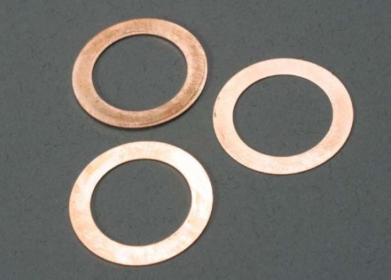 Traxxas Gaskets, cooling head: 0.15, 0.25, 0.35mm (1 each) (TRX® 2.5, 2.5R)