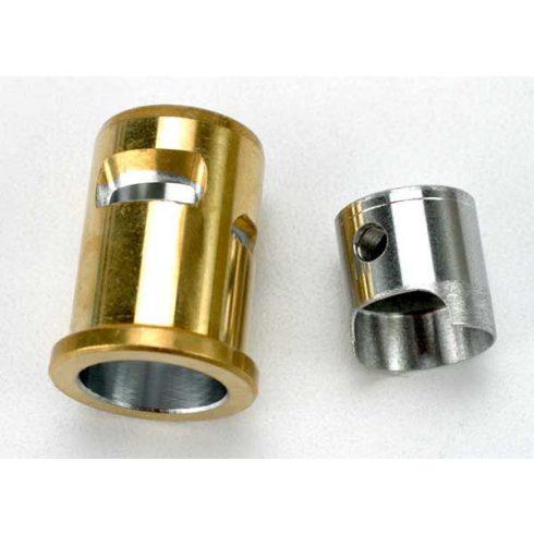 Traxxas Piston/sleeve (matched set), wrist pin clips(2) (TRX® 2.5, 2.5R)