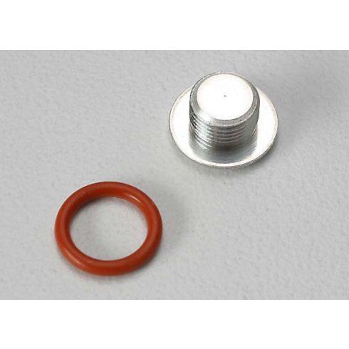 Traxxas End cap, carburetor body/ 6.2x1.2mm O-ring/ (1-each) (TRX® 2.5, 2.5R)