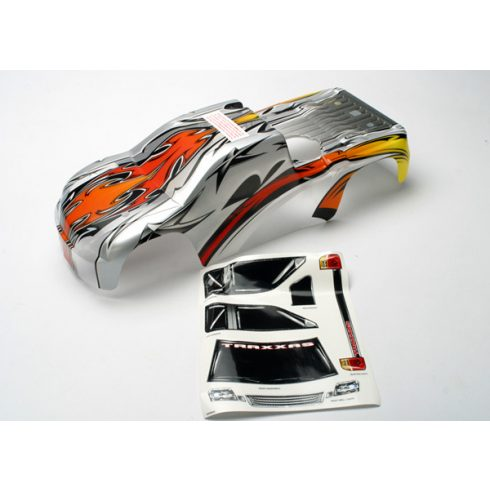 Traxxas Body, Revo®, ProGraphix® (replacement for painted body. Graphics are painted - requires paint and final color application)/window, grille, lights decal sheet