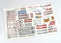 Traxxas Decal set, Revo® (Revo logos and graphics decal sheet)