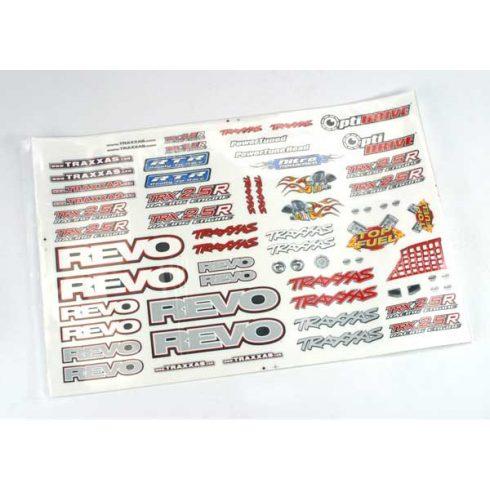 Traxxas Decal set, Revo® (Revo logos and graphics decal sheet)