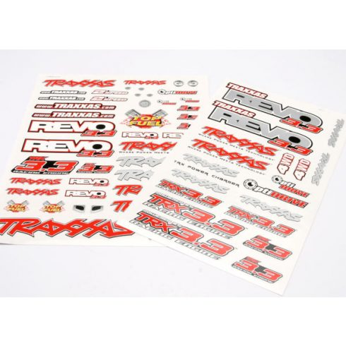 Traxxas Decal set, Revo® 3.3 (Revo logos and graphics decal sheet)