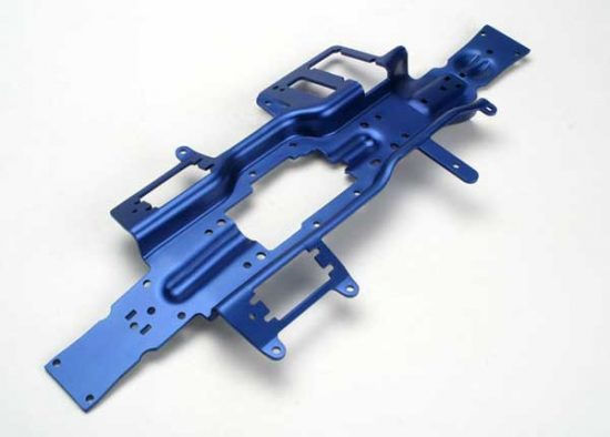 Traxxas Chassis, Revo® (3mm 6061-T6 aluminum) (anodized blue)