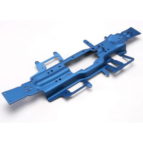 Traxxas Chassis, Revo® 3.3 (extended 30mm) (3mm 6061-T6 aluminum) (anodized blue)
