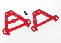 Traxxas Bulkhead tie bars, front & rear (red-anodized aluminum)