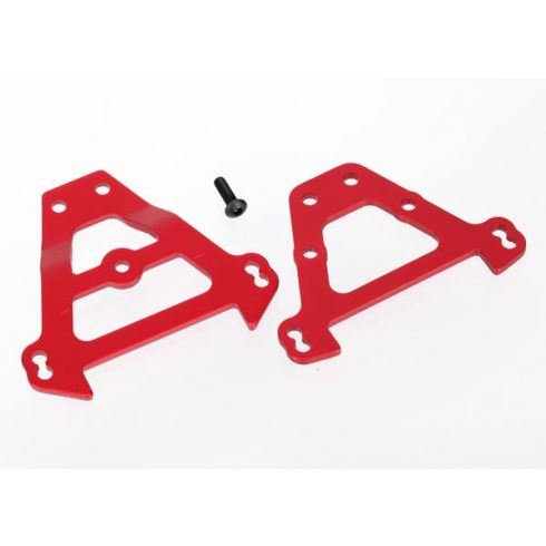 Traxxas Bulkhead tie bars, front & rear (red-anodized aluminum)