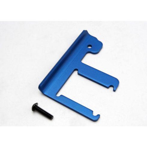 Traxxas Chassis brace, Revo® (3mm 6061-T6 aluminum) (blue-anodized)/ 4x16mm BCS