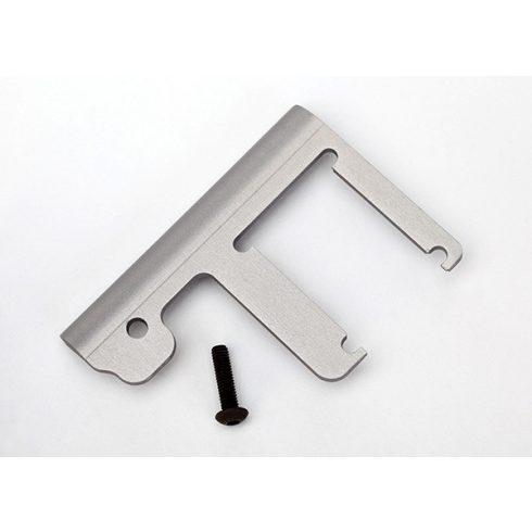 Traxxas Chassis brace, Revo®/Slayer (3mm 6061-T6 aluminum) (titanium- anodized)/ 4x16mm BCS