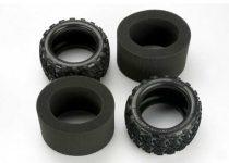 """Traxxas Tires, Talon 3.8"""" (2)/ foam inserts (2)"""