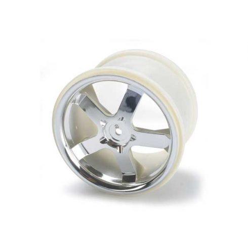 """Traxxas Wheels, Hurricane 3.8"""" (chrome) (2) (also fits Maxx® series)"""
