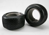 "Traxxas  Tires, Response Pro 3.8"" (soft-compound, narrow profile, short knobby design)/ foam inserts (2)"