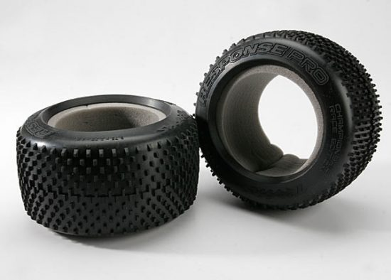 "Traxxas  Tires, Response Pro 3.8"" (soft-compound, narrow profile, short knobby design)/ foam inserts (2)"