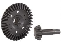 Traxxas Ring gear, differential/ pinion gear, differential (machined, spiral cut) (front)