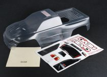 Traxxas Body, Revo® 3.3 (clear, requires painting)/ window, lights, grille decal sheet