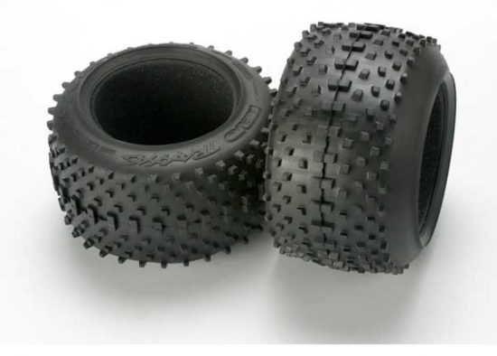 """Traxxas Tires, SportTraxx racing 3.8"""" (soft compound, directional and asymmetrical tread design)/ foam inserts (2)"""