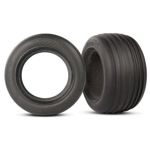 """Traxxas Tires, ribbed 2.8"""" (2)/ foam inserts (2)"""