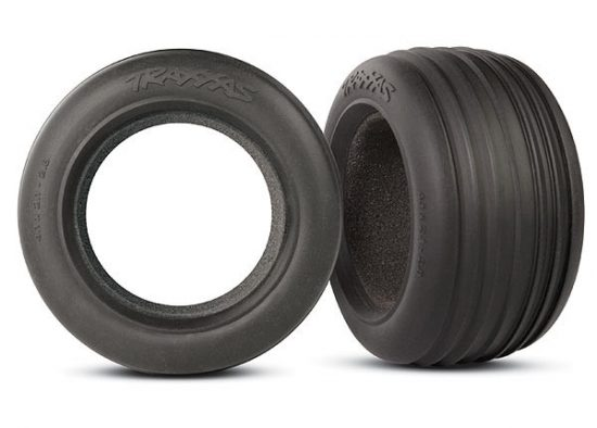 "Traxxas Tires, ribbed 2.8"" (2)/ foam inserts (2)"