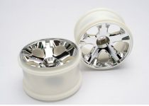 "Traxxas Wheels, All-Star 2.8"" (chrome) (nitro rear/ electric front) (2)"