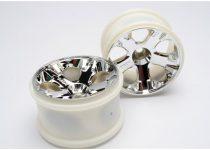 """Traxxas Wheels, All-Star 2.8"""" (chrome) (nitro front) (2)"""