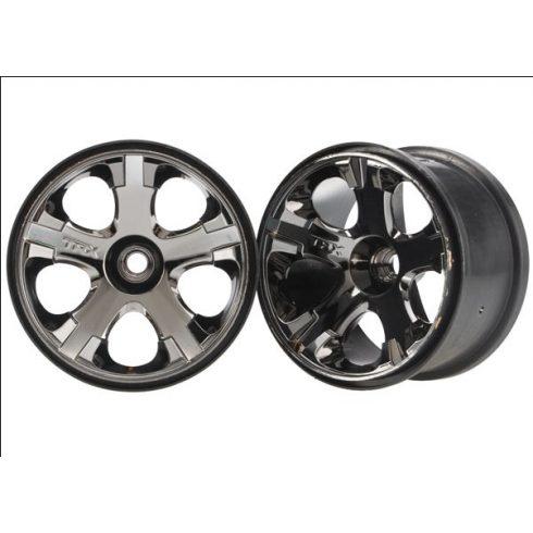 """Traxxas Wheels, All-Star 2.8"""" (black chrome) (nitro front) (2)"""