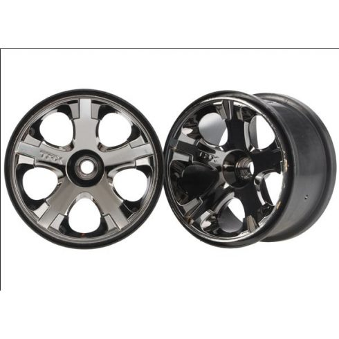 "Traxxas Wheels, All-Star 2.8"" (black chrome) (nitro front) (2)"