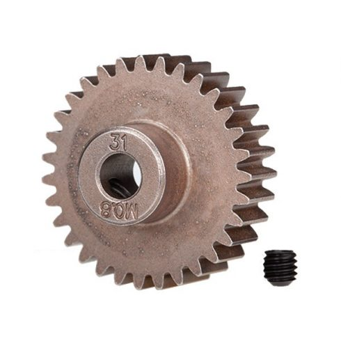 Traxxas  Gear, 31-T pinion (0.8 metric pitch, compatible with 32-pitch) (fits 5mm shaft)/ set screw