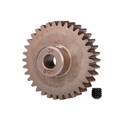 Traxxas Gear, 34-T pinion (0.8 metric pitch, compatible with 32-pitch) (fits 5mm shaft)/ set screw