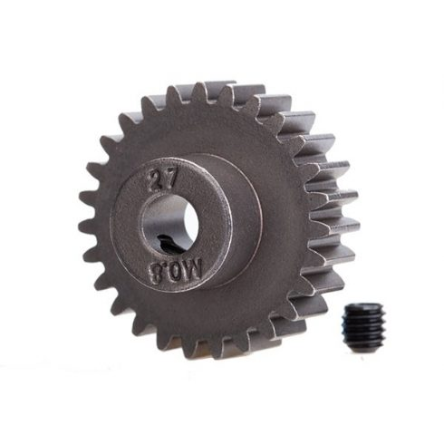 Traxxas Gear, 27-T pinion (0.8 metric pitch, compatible with 32-pitch) (fits 5mm shaft)/ set screw