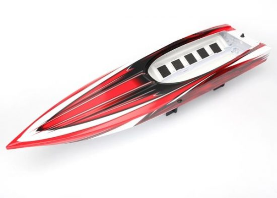 Traxxas Hull, Spartan, red graphics (fully assembled) *Lifetime Replacement Plan available