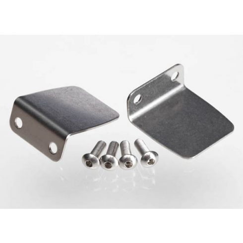 Traxxas Trim tab (2)/ 4x12mm BCS (stainless) (4)
