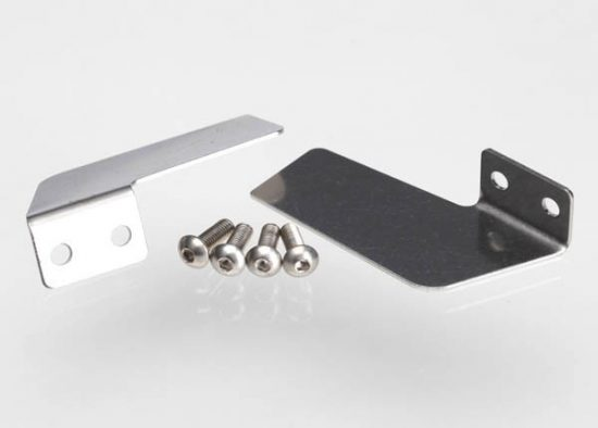 Traxxas Turn fins, left & right/ 4x12mm BCS (stainless) (4)