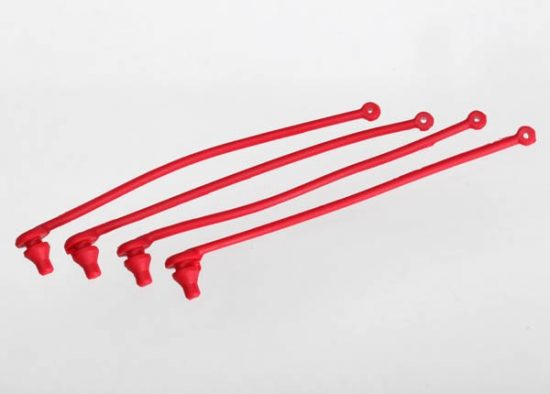Traxxas BODY CLIP RETAINER, RED (4)