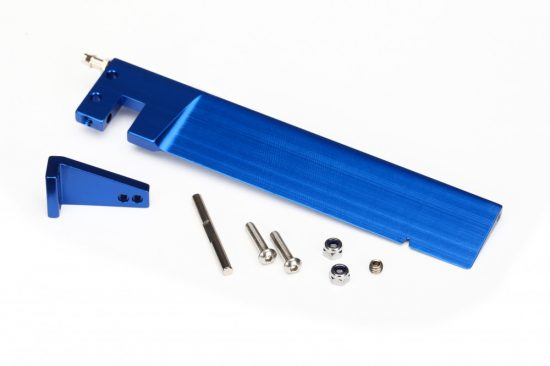 Traxxas Rudder (127.5 mm)/ rudder arm/ hinge pin/ 3x15mm BCS (stainless) (2)/ NL 3.0 (2)/ 4x3mm BCS (stainless, with threadlock) (1)