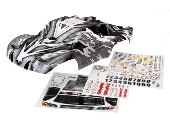 Traxxas Body, Slash 4X4, ProGraphix® (Graphics are printed, requires paint & final color application)/ decal sheet