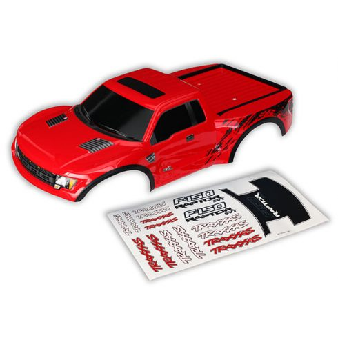 Traxxas Body, Ford Raptor®, red (first generation) (painted, decals applied)