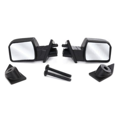Traxxas  Mirrors, side (left & right)/ mounts (left & right)/ 2.6x8mm BCS (2)