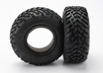 "Traxxas Tires, ultra-soft, S1 compound for off-road racing, SCT dual profile 4.3x1.7- 2.2/3.0"" (2)/ foam inserts (2)"