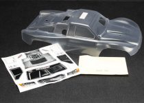 Traxxas Body, Slayer Pro 4X4 (clear, requires painting)/window masks/decal sheets