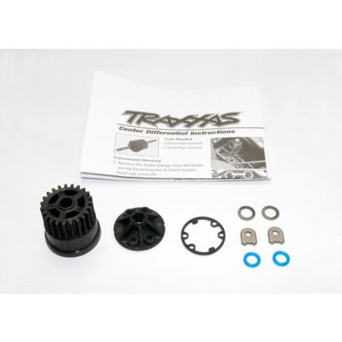 Traxxas Gear, center differential (Slayer)/ Cover (1) / X-ring seals (2)/ gasket (1)/ 6x10x0.5 TW (2) (Replacement gear for 5914)
