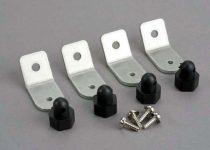 Traxxas  Body posts/ aluminum mounting brackets/ 3x8 ST (8)