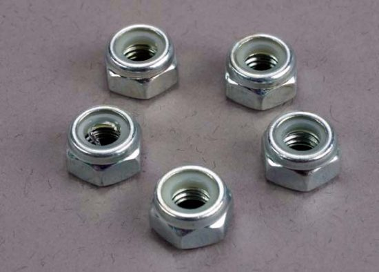 Traxxas Nuts, 6mm nylon locking (wheel nuts 1/6 and 1/5 scale) (5)