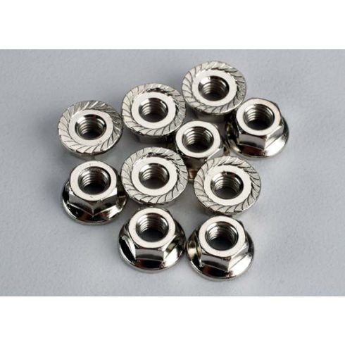 Traxxas Nuts, 4mm flanged (10)