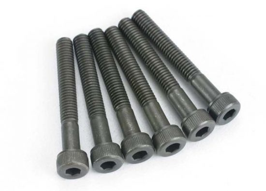 Traxxas  Shoulder Screws, 4x30mm cap-head machine (6) (with 5mm shoulder for Monster Buggy)
