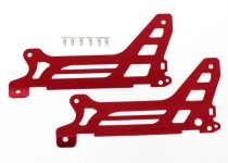 Traxxas  Main frame, side plate, outer (2) (red-anodized) (aluminum)/ screws (6)