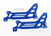 Traxxas  Main frame, side plate, outer (2) (blue-anodized) (aluminum)/ screws (6)