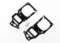 Traxxas  Main frame, side plate, inner (2) (black-anodized) (aluminum)/ screws (6)